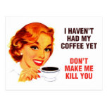 Killer Coffee Bad Girl Postcard
