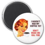 Killer Coffee Bad Girl Refrigerator Magnets