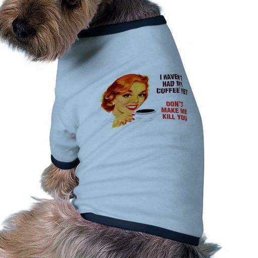 Killer Coffee Bad Girl Ringer Dog Shirt