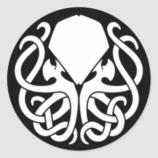 Killer Cthulhu sticker (BLACK) (Limited time only)