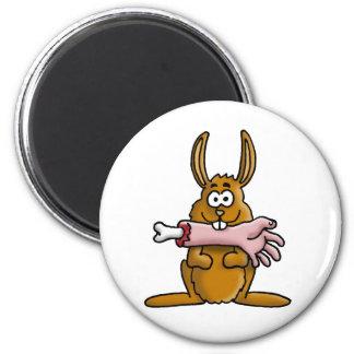 killer rabbit 6 cm round magnet