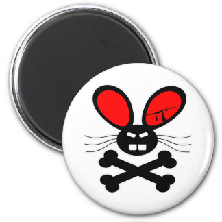 Killer Rabbit Cartoon 6 Cm Round Magnet