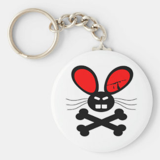 Killer Rabbit Cartoon Basic Round Button Key Ring