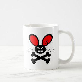 Killer Rabbit Cartoon Basic White Mug