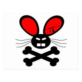 Killer Rabbit Cartoon Postcard