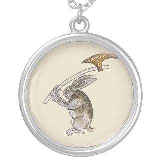 Killer Rabbit Round Pendant Necklace