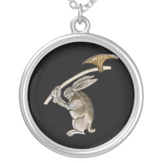 Killer Rabbit Silver Plated Necklace