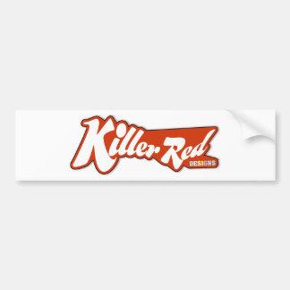 Killer Red retro logo design Bumper Sticker