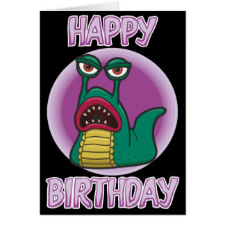 Killer Space Slug Birthday Card