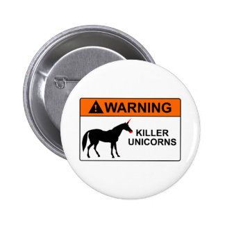 Killer Unicorns Pinback Buttons