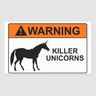 Killer Unicorns Rectangular Sticker