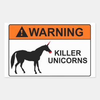 Killer Unicorns Rectangle Stickers