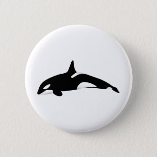 Killer Whale 6 Cm Round Badge