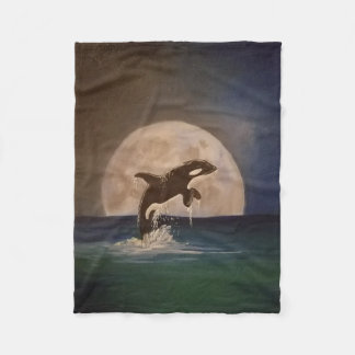 Killer Whale Fleece Throw