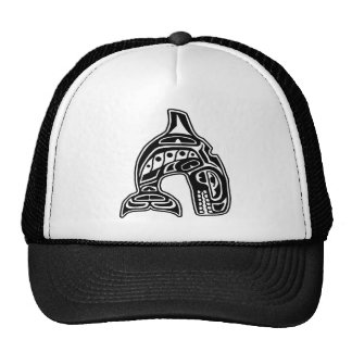 Killer Whale Native American Design Cap