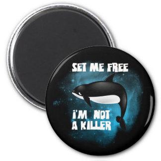 Killer Whale - Orca 6 Cm Round Magnet