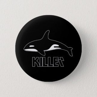 Killer Whale Orca of Death 6 Cm Round Badge