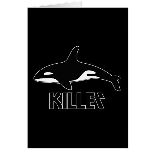 Killer Whale Orca of Death Greeting Cards