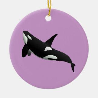Killer Whale, Orcinus Orca Christmas Ornament