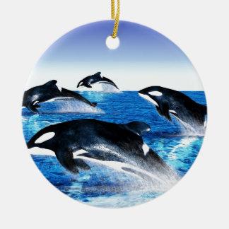 Killer Whale Pod Christmas Ornament
