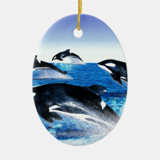 Killer Whale Pod Christmas Ornament