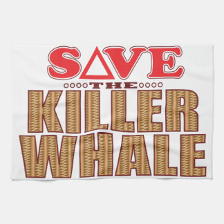Killer Whale Save Tea Towel