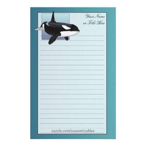 Killer Whale Stationery
