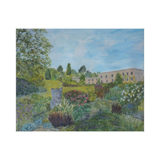 Killerton House and Garden painting, Janet Davies. Stretched Canvas Print