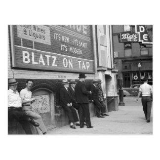 Killing Time in Butte, 1939 Postcard