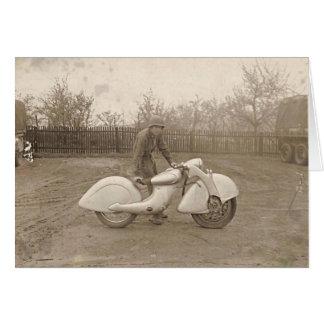 KILLINGER & FREUND MOTORCYCLE. GREETING CARD