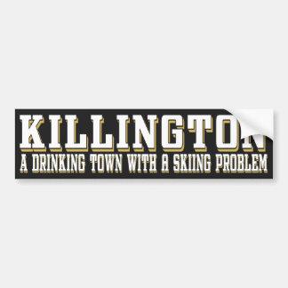 Killington Drinking & Skiing Sticker