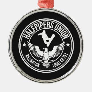 Killington Halfpipers Union Silver-Colored Round Decoration