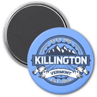 Killington Logo Blue 7.5 Cm Round Magnet