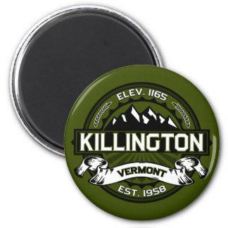 Killington Logo Olive 6 Cm Round Magnet