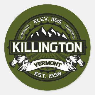 Killington Logo Olive Round Sticker