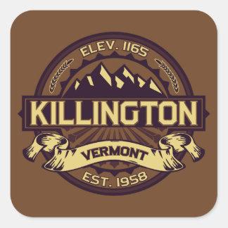 Killington Logo Sepia Square Sticker