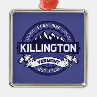 Killington Midnight Silver-Colored Square Decoration