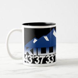 Killington Mountain GPS Blue Mug