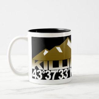 Killington Mountain GPS Gold Mug