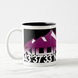 Killington Mountain GPS Raspberry Mug