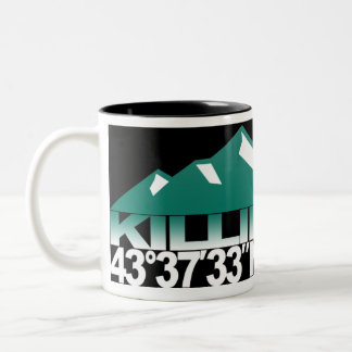 Killington Mountain GPS Vermont Green Mug