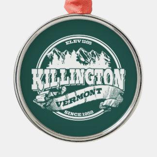 Killington Old Circle White Silver-Colored Round Decoration