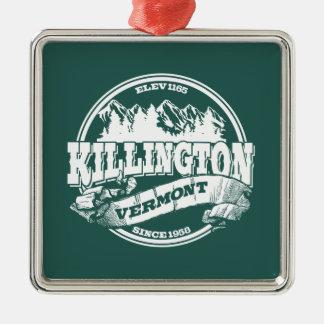 Killington Old Circle White Silver-Colored Square Decoration
