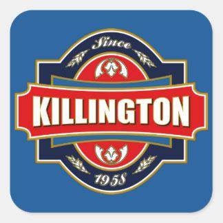 Killington Old Label Square Sticker
