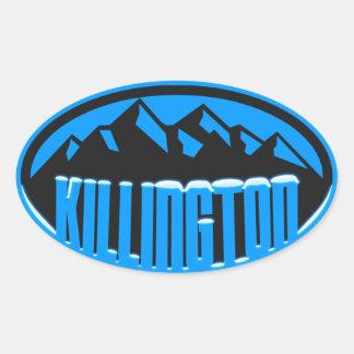 Killington Snowcapped Oval Sticker