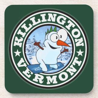 Killington Snowman Circle Beverage Coasters