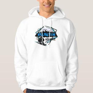 Killington Vermont blue black ski logo guys hoodie