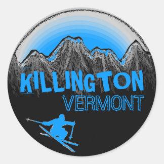 Killington Vermont blue skier stickers