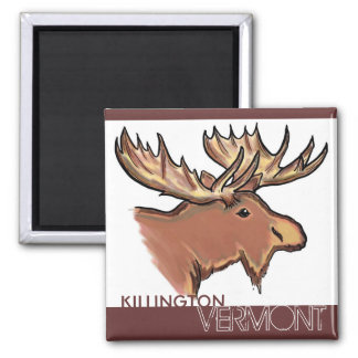 Killington Vermont brown moose magnet