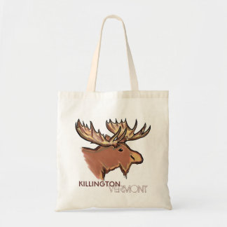Killington Vermont brown moose reusable bag